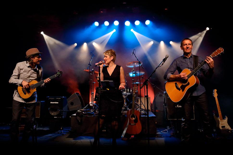 le groupe en concert